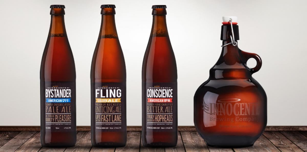 Innocente beer lineup