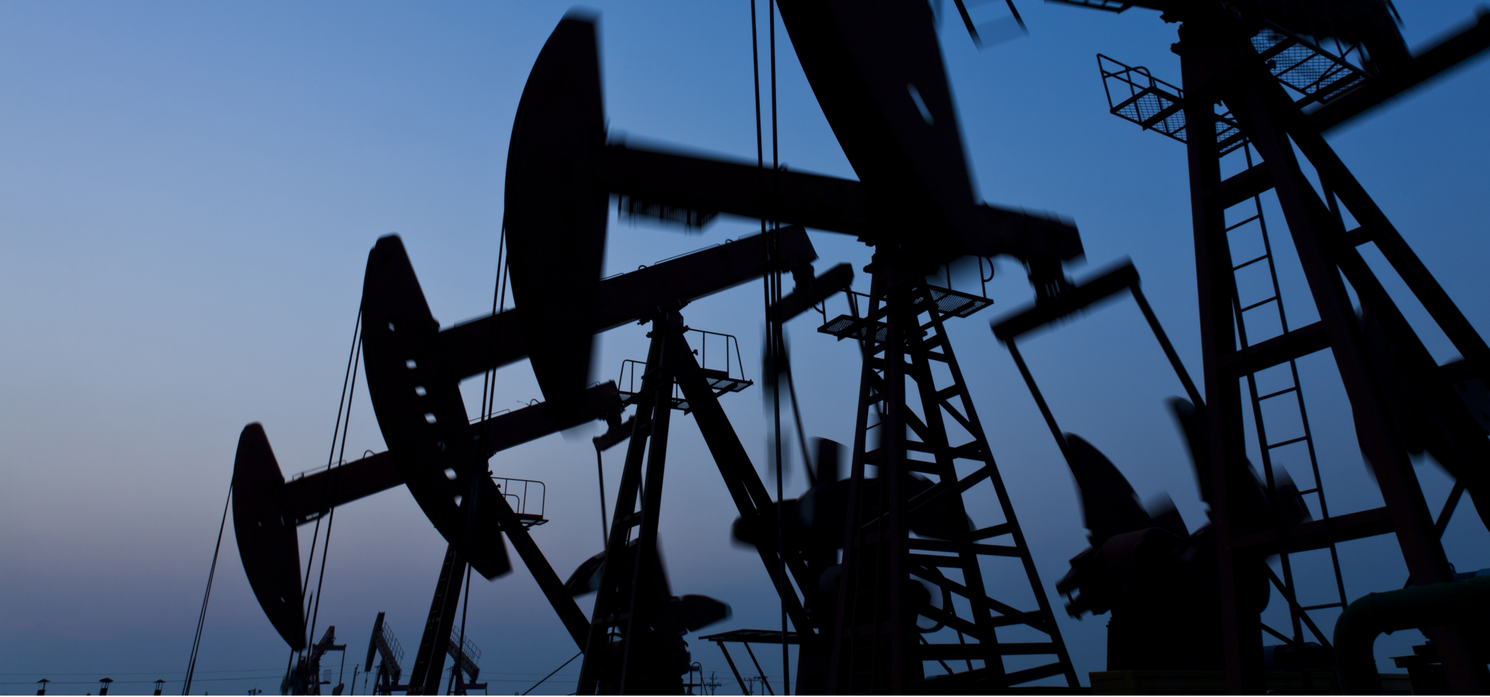 Silhouette of oil pump jack
