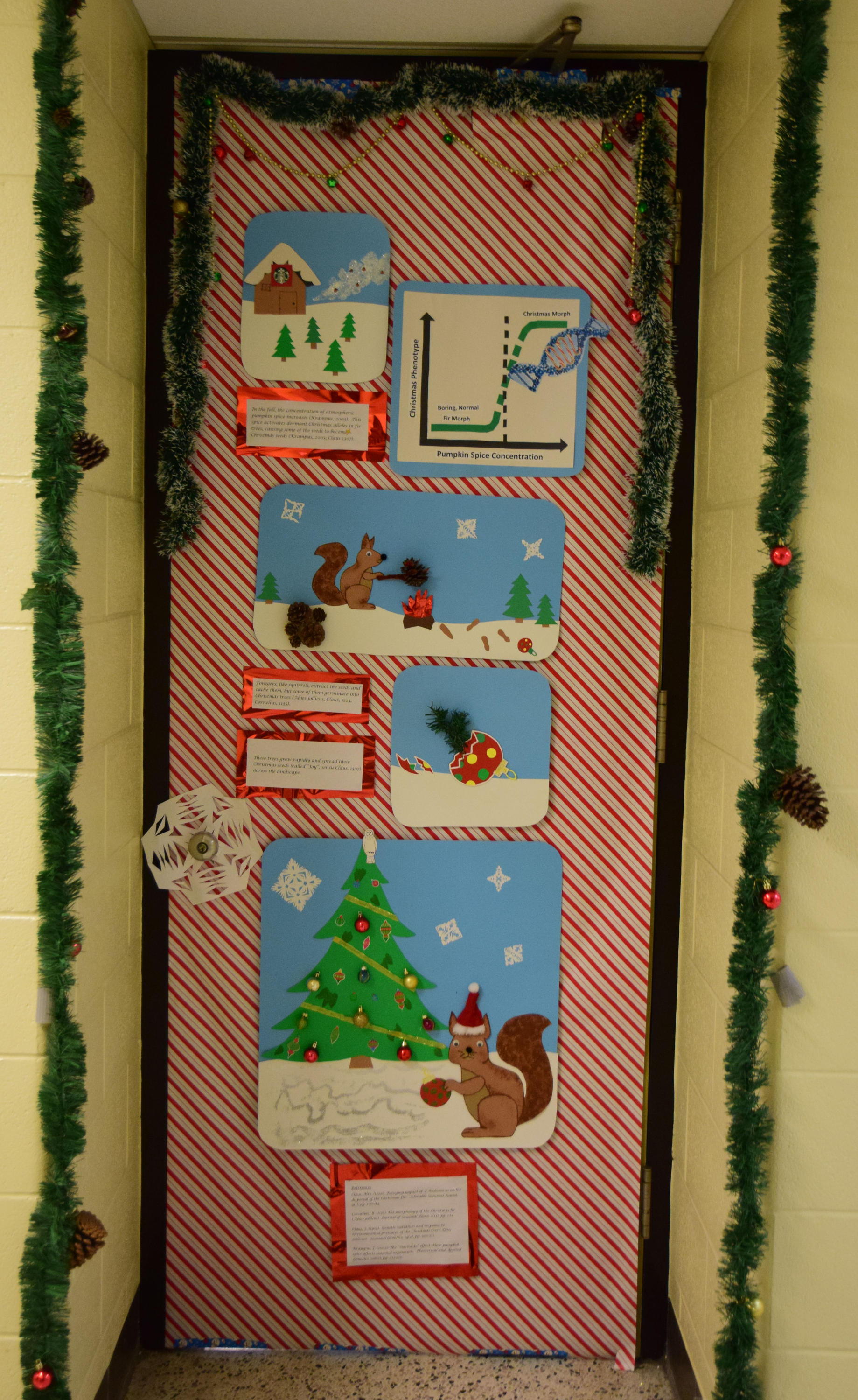 Rooney lab holiday door
