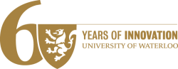 Univeristy of Waterloo 60th Anniversary logo gold