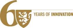 "Univeristy of Waterloo 60th Anniversary logo, no ""University of Waterloo"", gold"