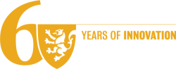 "Univeristy of Waterloo 60th Anniversary logo, no ""University of Waterloo"", yellow"