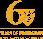 Univeristy of Waterloo 60th Anniversary logo yellow