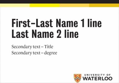 University brand name tag