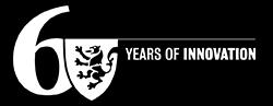 "Univeristy of Waterloo 60th Anniversary logo, no ""University of Waterloo"", white"