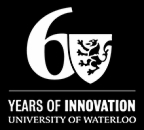 Univeristy of Waterloo 60th Anniversary logo white