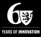 "Univeristy of Waterloo 60th Anniversary logo white, no ""University of Waterloo"""