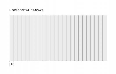 Horizontal canvas with 24 grid sample