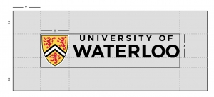 UWaterloo horizontal logo clearspace
