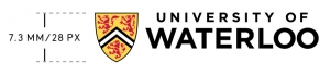UWaterloo horizontal logo minimum size