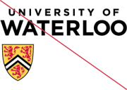 University of Waterloo logo - improper positioning of the shield