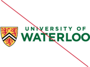 University of Waterloo logos - improper colouring