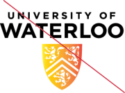University of Waterloo logo - improper colouring