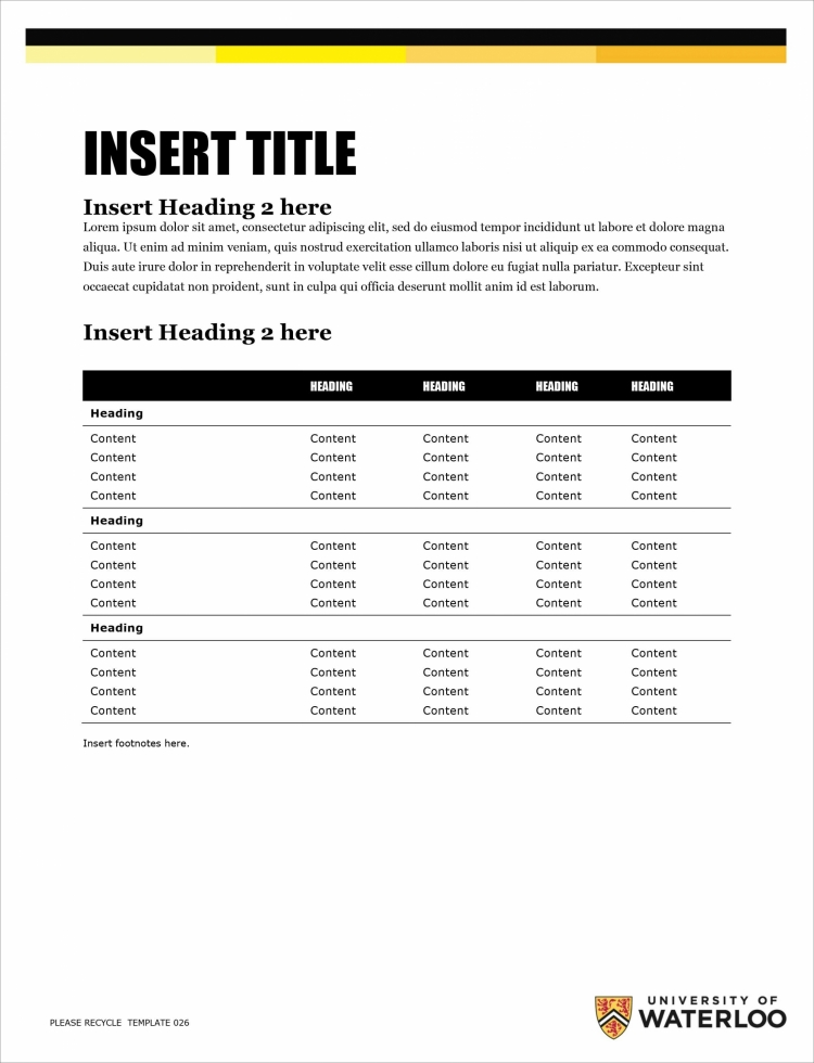 Sample proposal page template.
