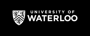 University of Waterloo logo - horizontal (preferred), black reversed