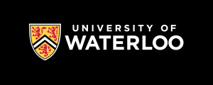 University of Waterloo logo - horizontal (preferred), colour reversed
