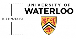 UWaterloo vertical logo minimum size