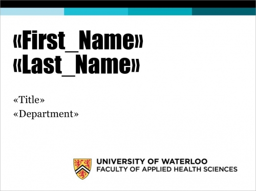 Faculty name tag sample