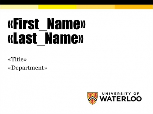 UWaterloo nametag sample