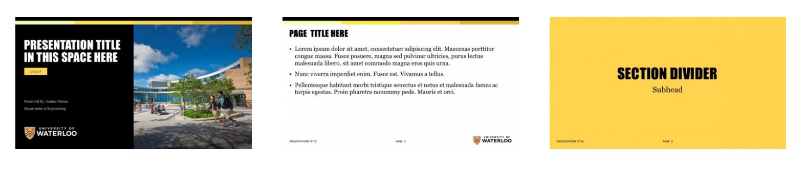Presentation template sample slides