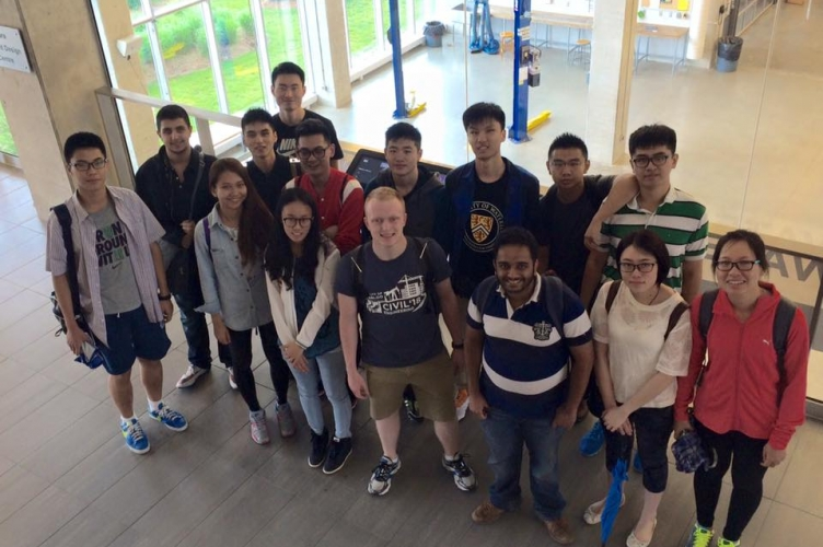 Engineering iBASE students in the Sedra Design Centre