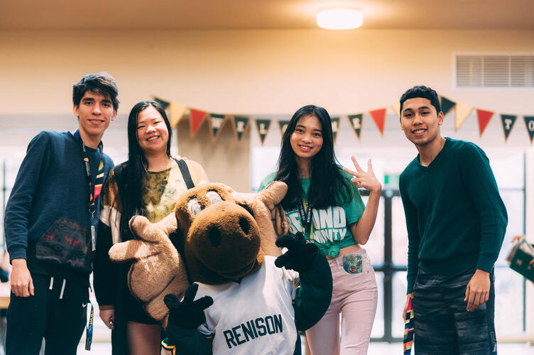 Students volunteering at Open House Event