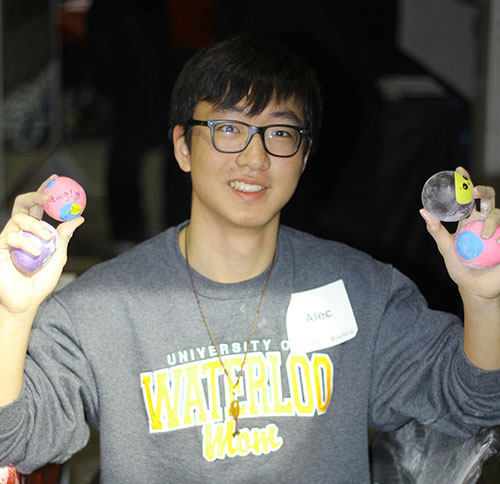 Alec Li at the Good Luck on your Midterms event
