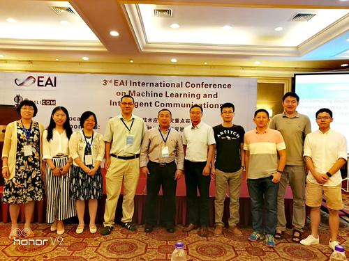 Prof. Shen and many BBCR members attended the 3rd EAI International Conference on MLICOM 2018