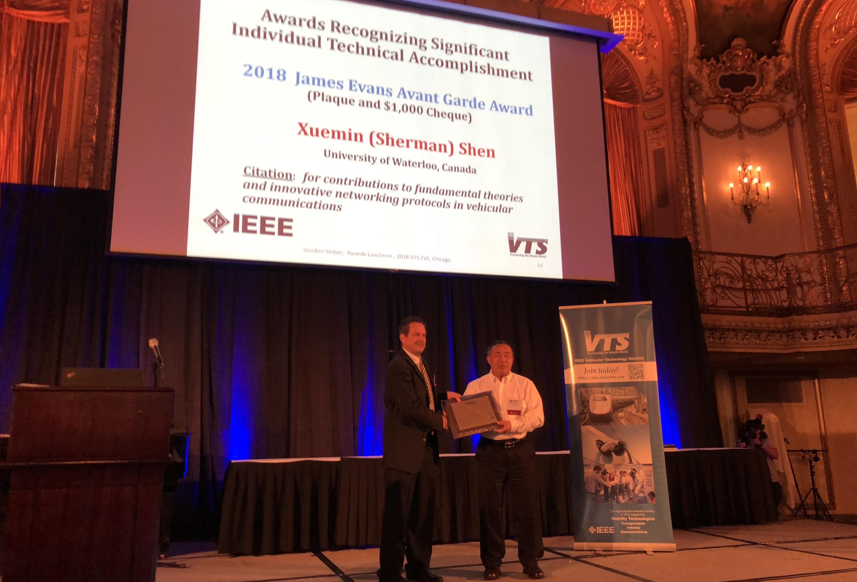 Prof. Shenreceived2018 James Evans Avant Garde Award