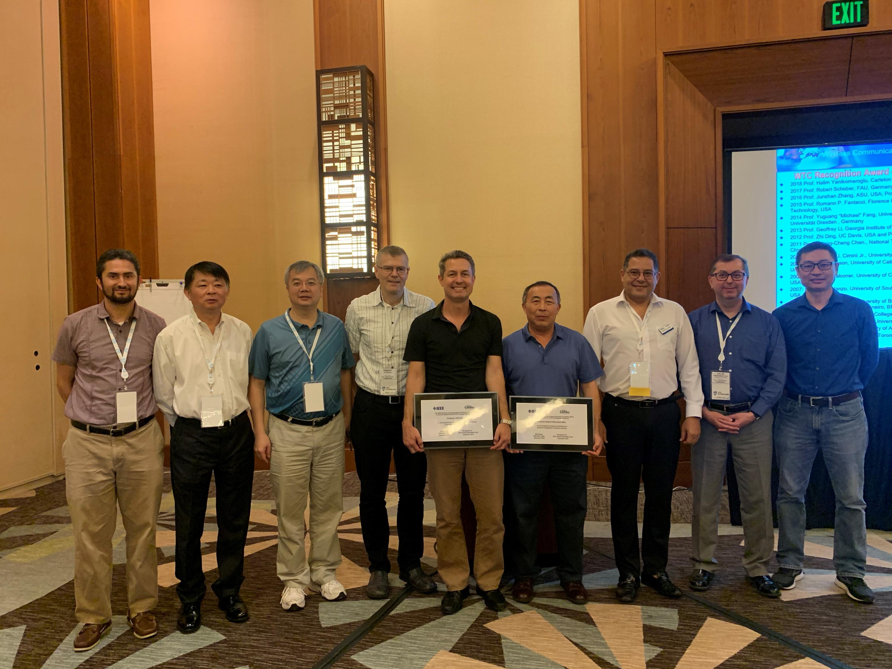 Prof. Shen has received the 2019 Wireless Communications Technical Committee (WTC) Recognition Award