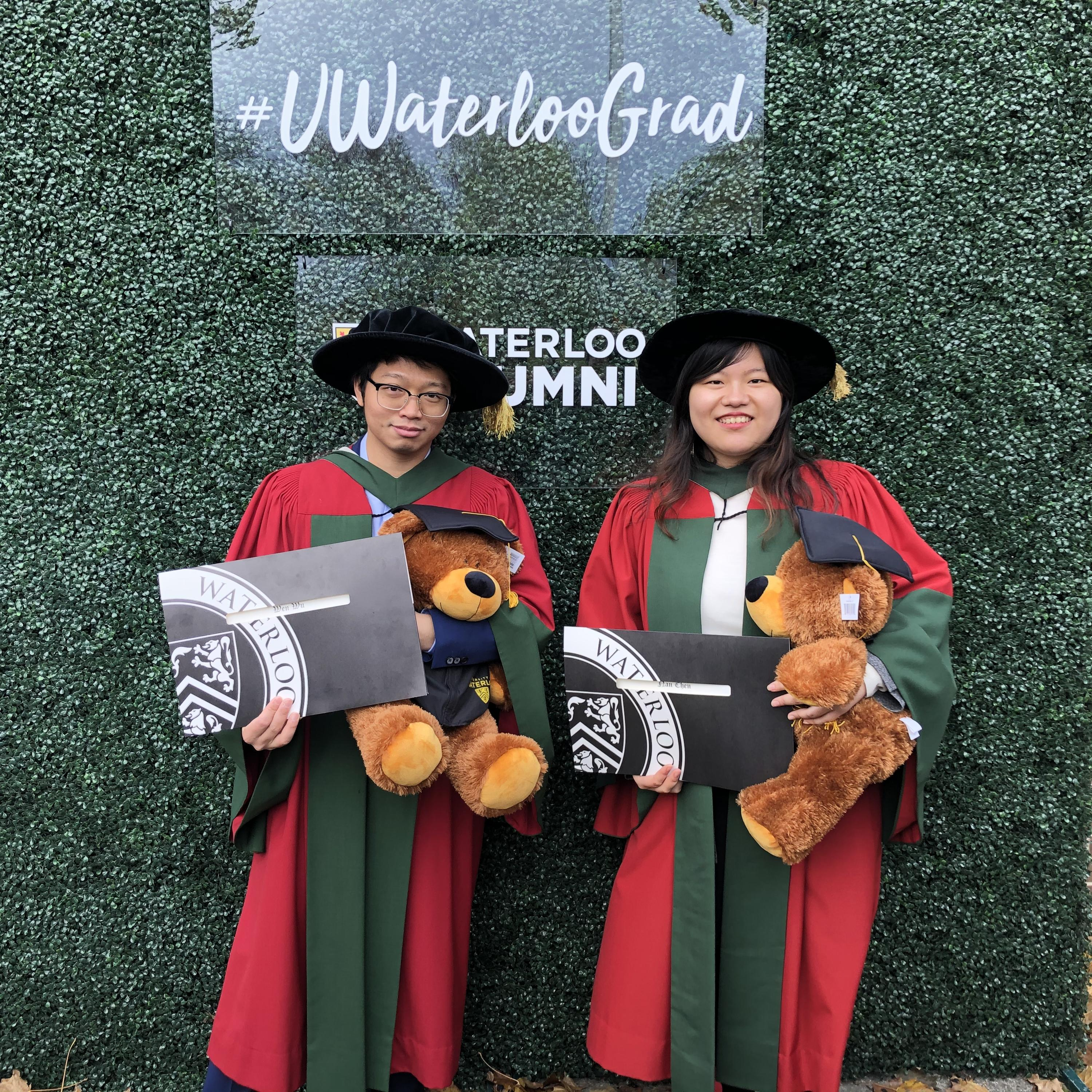 Dr. Nan Chen and Dr. Wen Wu attended the convocation on Oct. 26, 2019