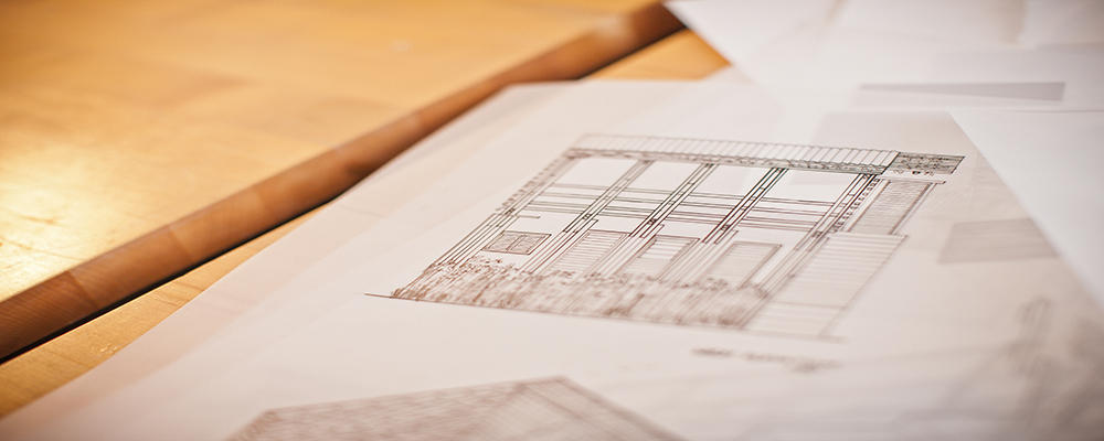 Architecture blueprints by students