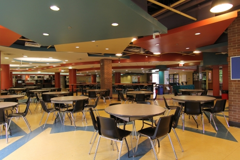 Ron Eydt Village main floor communal space and dining area