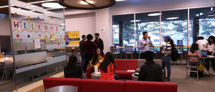 Upper year students at an event.
