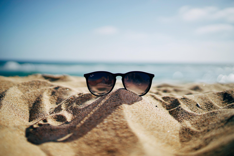 Sun glasses in sand