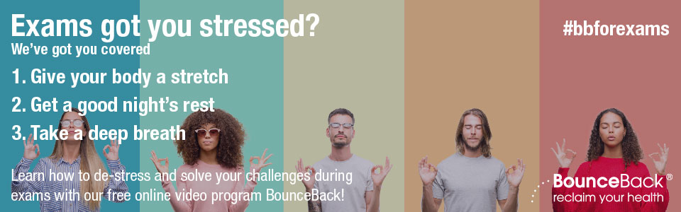 BounceBack Ontario  - Learn how to de-stress and solve your challenges during midterms with our free online video program