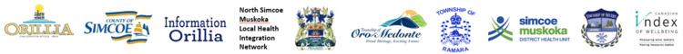 Orillia and area partner logos