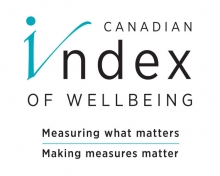 Canadian Index of Wellbeing logo. Measuring what matters, making measures matter.