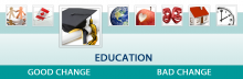 The infographic for Education domain.