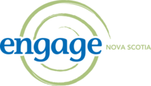 Engage Nova Scotia blue and green circular logo