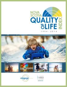 Quality Of LIfe INdex report front page with child riding on sled