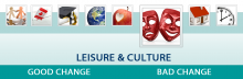 The infographic for Leisure and Culture domain.