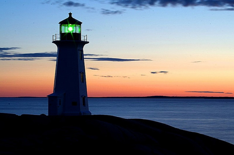 Lighthouse at evening