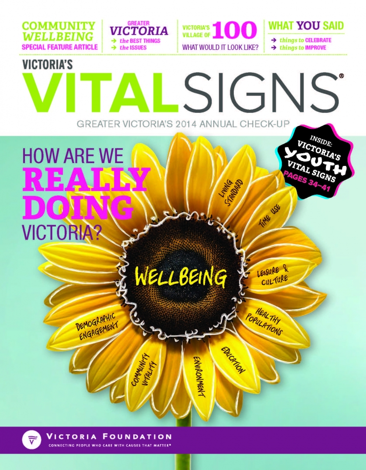 Victoria, BC Vital Signs poster cover