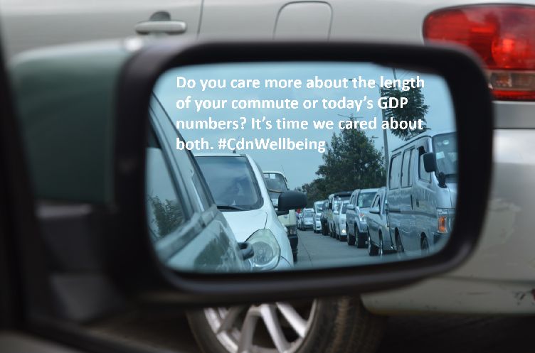 Do you care more about the length of your commute or today's GDP numbers? It's time we cared about both