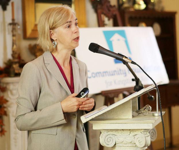 Katherine Scott speaking at Vital Signs release Kingston Oct 1, 2013