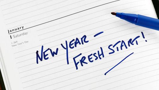 New Year's resolutions -- Fresh Start