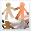 Community vitality- paper dolls holding hands