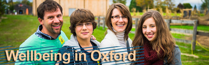 Wellbeing in Oxford - picture of a happy family