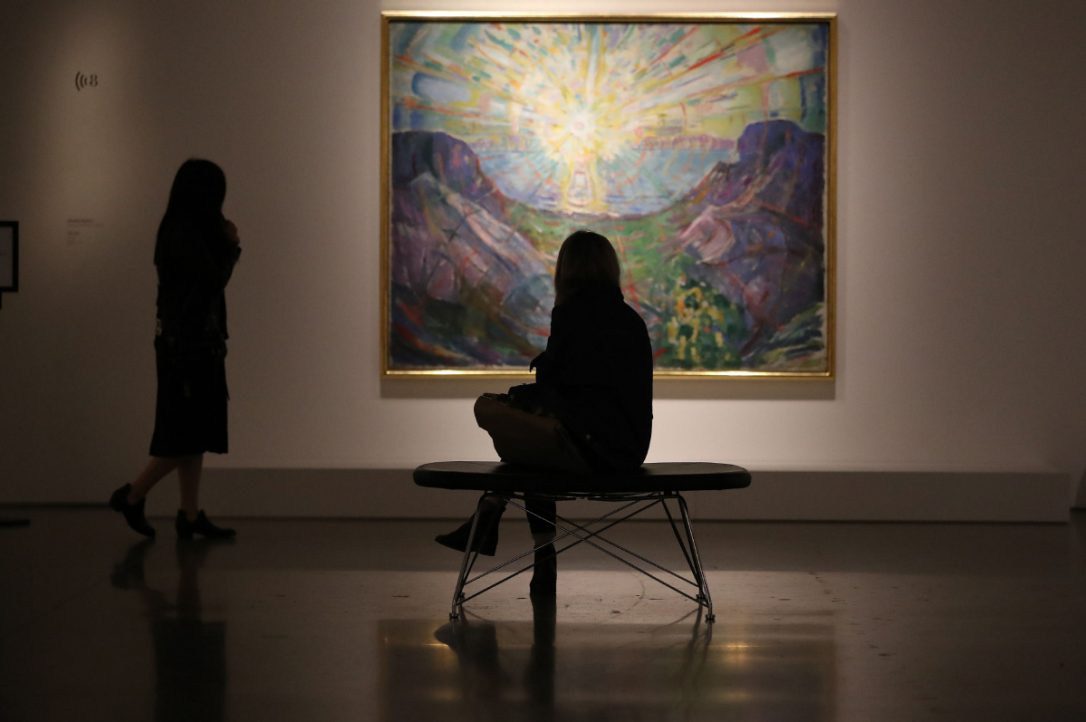 "Edvard Munch's ""The Sun"" at the AGO's Mystic Landscapes exhibition"